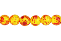 Perles Ambre - 48 perles - Perles Lithothérapie - 10doigts.fr