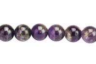 Perles Améthyste - Set de 48 - Perles Lithothérapie - 10doigts.fr
