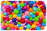 Perles rondes brillantes - Set de 180 - Perles acrylique - 10doigts.fr