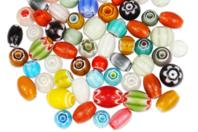 Perles chevrons en verre - Set de 40 - Perles en verre - 10doigts.fr