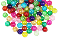 Perles craquelées en verre - set de 90 - Perles en verre - 10doigts.fr
