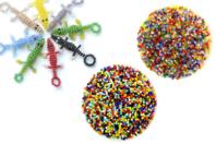 Perles de rocaille couleurs assorties - 9000 perles - Perles de rocaille - 10doigts.fr