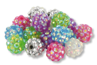 Perles Disco en acrylique - Set de 21 - Perles acrylique - 10doigts.fr
