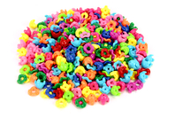 Perles capsules emboitables - Set de 350 - Perles en plastique - 10doigts.fr