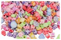 Perles enfantines en plastique - Set de 250 - Perles en plastique - 10doigts.fr