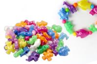 Perles animaux nacrées - 30 perles assorties - Perles enfants - 10doigts.fr