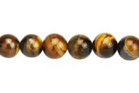 Perles Œil de Tigre - set de 48 - Perles Lithothérapie - 10doigts.fr