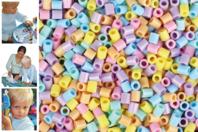 Perles fusibles à repasser, couleurs pastels - Perles fusibles 5 mm - 10doigts.fr
