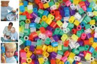 Perles fusibles à repasser, couleurs translucides - Décoration du sapin - 10doigts.fr