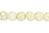 Perles Howlite blanc - Set de 48 - Perles Lithothérapie - 10doigts.fr