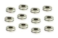 Perles intercalaires disque argenté - 12 pièces - Perles Lithothérapie - 10doigts.fr