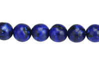 Perles Lapis Lazuli - set de 48 - Perles Lithothérapie - 10doigts.fr
