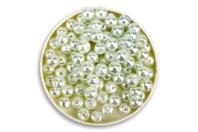 Perles blanches nacrées -Qualité supérieure - Perles nacrées - 10doigts.fr