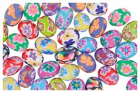 Perles ovales Millefiori en pâte polymère - 40 perles - Perles en pâte polymère - 10doigts.fr