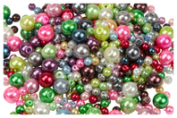 Perles rondes nacrées - 500 perles - Perles nacrées - 10doigts.fr
