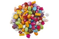 Perles splatter en acrylique - Set de 100 - Perles acrylique - 10doigts.fr