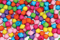 Perles toupies à facettes opaques - 300 perles - Perles acrylique - 10doigts.fr