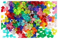 Perles tripodes translucides en plastique - Set de 250 - Perles en plastique - 10doigts.fr