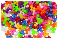 Perles tripodes opaques en plastique - Set de 250 - Perles en plastique - 10doigts.fr