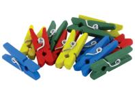 Pinces à linge couleurs assorties - Set de 50 - Pinces à linge classiques - 10doigts.fr