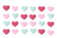 Stickers cœurs en tissu moletonné brillant - Coeurs - 10doigts.fr