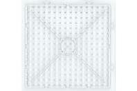Plaque carrée transparente pour perles à repasser XXL - Perles fusibles à repasser - 10doigts.fr