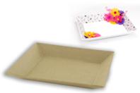 Plateau en papier mâché - 22 x 17 cm - Paniers, plateaux en carton - 10doigts.fr