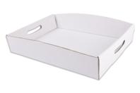 Plateaux en carton blanc - Lot de 30 - Paniers, plateaux en carton - 10doigts.fr