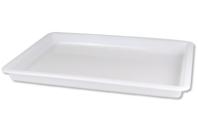 Plateau en PVC blanc - 31.5 x 24 cm - Outils et colles - 10doigts.fr