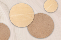 Support plat rond bois ou MDF - Format au choix - Supports plats - 10doigts.fr