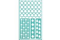 Pochoir adhésif géométrique - Pochoir Adhésifs - 10doigts.fr