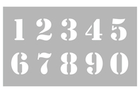 Pochoir Chiffres - Pochoir Alphabet - 10doigts.fr