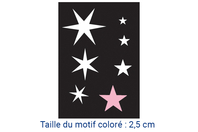 """Pochoir auto-adhésif repositionnable """"Etoiles"""" - Pochoir Adhésifs - 10doigts.fr"""