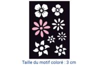 "Pochoir auto-adhésif repositionnable  ""Fleurs"" - Pochoir Adhésifs - 10doigts.fr"