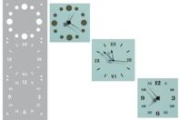 Pochoir horloge - Set de 3 motifs - Pochoir frise - 10doigts.fr