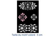 "Pochoir auto-adhésif repositionnable ""Baroque"" - Pochoir Adhésifs - 10doigts.fr"