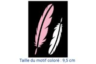 "Pochoir auto-adhésif repositionnable ""Plumes"" - Pochoirs Adhésifs - 10doigts.fr"