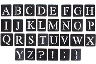 "Pochoirs adhésifs repositionnables ""Alphabet"" - Pochoirs Alphabets - 10doigts.fr"