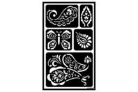 "Pochoirs adhésifs repositionnables ""Rosaces"" - Pochoirs Adhésifs - 10doigts.fr"