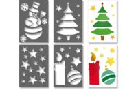 Pochoirs de Noël - Set de 4 - Pochoir fêtes - 10doigts.fr