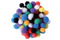 Mini-pompons couleurs vives - Set de 200 - Meilleures ventes - 10doigts.fr