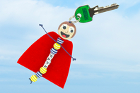 Porte-clés PAPA super héros - Kit pour 6 réalisations - Porte-clefs, stylo-bille - 10doigts.fr