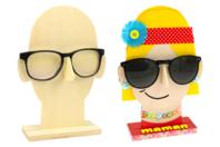 Porte-lunettes visage en bois - Fête des pères - 10doigts.fr
