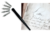Porte-plumes + 6 Plumes Calligraphie - Calligraphie, Ecriture - 10doigts.fr