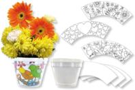 Pot de fleurs à décorer - Activités enfantines - 10doigts.fr