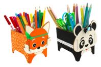 Pots à crayons panda et renard - Set de 2 - Pots à crayons - 10doigts.fr