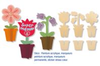 Pots de fleurs en bois 3D - Divers - 10doigts.fr