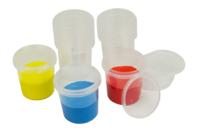 Pots hermétiques 125 ml - Lot de 10 - Palettes et rangements - 10doigts.fr