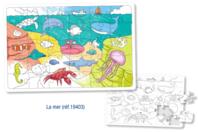 Puzzle à colorier - LA MER - Puzzle à colorier, dessiner ou peindre - 10doigts.fr