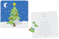 """Puzzle """"Sapin"""" à colorier - Puzzles à colorier, dessiner ou peindre - 10doigts.fr"""